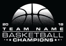 Diseño de los campeones del baloncesto con Team Name stock de ilustración