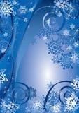 Diseño de los copos de nieve libre illustration