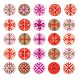 Diseño de los copos de nieve Imagenes de archivo