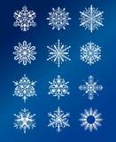 Diseño de los copos de nieve de la Navidad Imágenes de archivo libres de regalías
