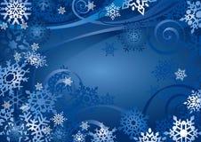 Diseño de los copos de nieve (vector) ilustración del vector