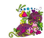 Diseño de los corazones Foto de archivo libre de regalías