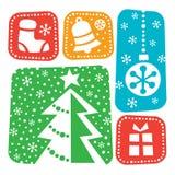 Diseño de los elementos de la Navidad Foto de archivo libre de regalías