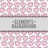 Diseño de los elementos del fondo de los corazones Fotografía de archivo libre de regalías