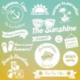 Diseño de los elementos del verano Fotos de archivo