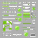 Diseño de los elementos del Web Fotos de archivo