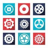 Diseño de los engranajes Foto de archivo libre de regalías