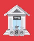 diseño de los enlaces de banco stock de ilustración