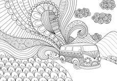 Diseño de los garabatos de Van para el libro de colorear para el adulto libre illustration