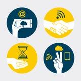 Diseño de los gestos de mano Imágenes de archivo libres de regalías