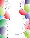 Diseño de los globos del marco del partido Fotos de archivo libres de regalías