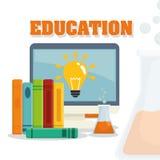 Diseño de los iconos de la educación ilustración del vector
