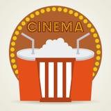 Diseño de los iconos del cine Fotos de archivo