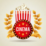 Diseño de los iconos del cine Foto de archivo libre de regalías