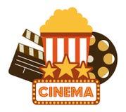 Diseño de los iconos del cine Imagen de archivo