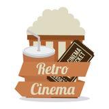 Diseño de los iconos del cine Foto de archivo