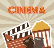 Diseño de los iconos del cine Fotos de archivo libres de regalías