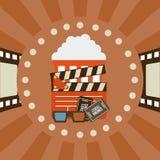 Diseño de los iconos del cine Fotografía de archivo libre de regalías