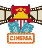 Diseño de los iconos del cine Imagen de archivo libre de regalías