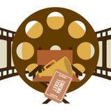 Diseño de los iconos del cine Imágenes de archivo libres de regalías