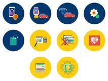 Diseño de los iconos de la tecnología libre illustration