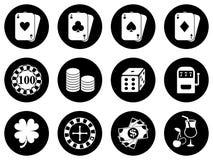 Diseño de los iconos para un casino Fotografía de archivo