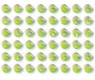 Diseño de los iconos para utilizado diariamente Imagen de archivo