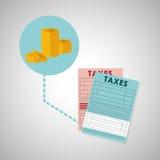 Diseño de los impuestos Icono de las finanzas Concepto de los impuestos Fotografía de archivo