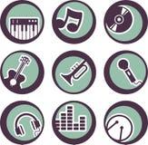 Diseño de los instrumentos de música Fotografía de archivo