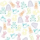 Diseño de los juguetes del bebé Imagenes de archivo
