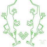 Diseño de los lagartos para la camiseta Foto de archivo libre de regalías