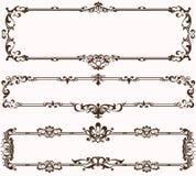 Diseño de los lebels de los ornamentos del vintage stock de ilustración