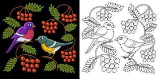 Diseño de los pájaros del bordado libre illustration