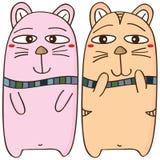 Diseño de los pares del gato stock de ilustración