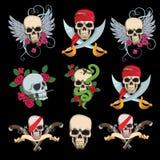 Diseño de los tatuajes del cráneo Imagenes de archivo