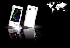 Diseño de los teléfonos móviles Foto de archivo