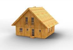 Diseño de madera de la casa Imagen de archivo libre de regalías