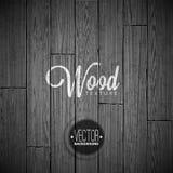 Diseño de madera del fondo de la textura del vector Ejemplo de madera del vintage oscuro natural Foto de archivo