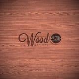 Diseño de madera del fondo de la textura del vector Ejemplo de madera del vintage oscuro natural Imagen de archivo libre de regalías