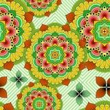 Diseño de Mandala African Zen Floral Ethnic Art Textile Seamless Pattern Vector libre illustration