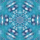 Diseño de Mandala Kaleidoscopic del cielo azul de la paz Imagen de archivo