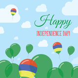 Diseño de Mauritius Independence Day Flat Patriotic Fotografía de archivo libre de regalías