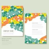 Diseño de moda de la plantilla del folleto stock de ilustración