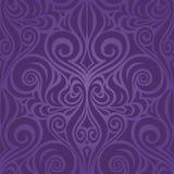 Diseño de moda de la moda de la púrpura de las flores del vintage del fondo floral inconsútil violeta del modelo libre illustration