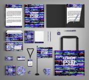 Diseño de moda de la plantilla de la identidad corporativa de Minimalistic de la interferencia de Digitaces stock de ilustración