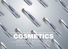 Diseño de moda moderno de la cubierta El cartel de la publicidad para el cosmético compone el producto, fundación colorstay, stock de ilustración
