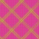 Diseño de neón diagonal verde de la mano y amarillo exhausto de la tela escocesa Vector inconsútil en fondo de las rosas fuertes  ilustración del vector