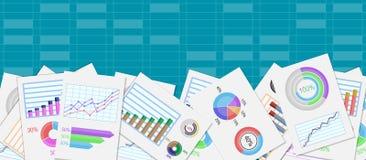 Diseño de negocio de Infographic ilustración del vector