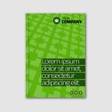 Diseño de negocio verde con el título y el modelo Fotos de archivo libres de regalías