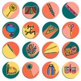 Diseño de nuevo a logotipos redondos de la escuela libre illustration